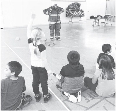 Cub Scouts Learning Fire Safety