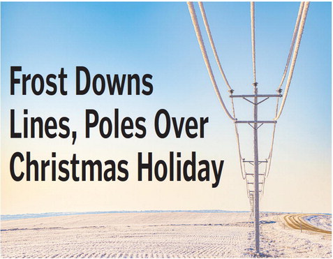 Frost Downs  Lines, Poles Over  Christmas Holiday