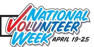 April 19-25 Is National  Volunteer Week