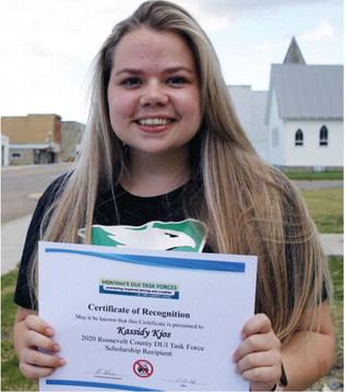 Kjos Named DUI Task Force  Scholarship Winner
