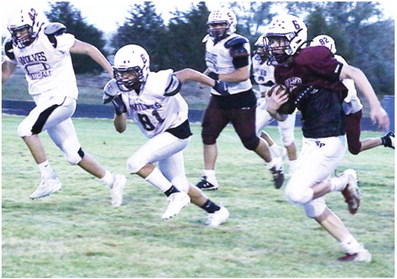 Wolves Hold Maroon/  White Football Scrimmage