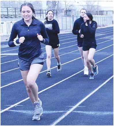 Wolf Point's Track Team Features  Strong Group Of Upper Classmen