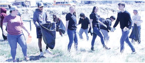 Students Help Sweep Wolf Point Clean