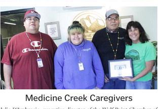 Medicine Creek Receives First Dollar Certificate