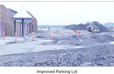 Work On School Parking Lot Begins