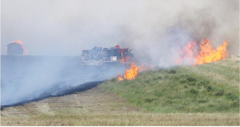Sunday Afternoon Fire Burns Approximately 120 Acres