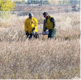 Fire Department Trains  On Controlled Burns